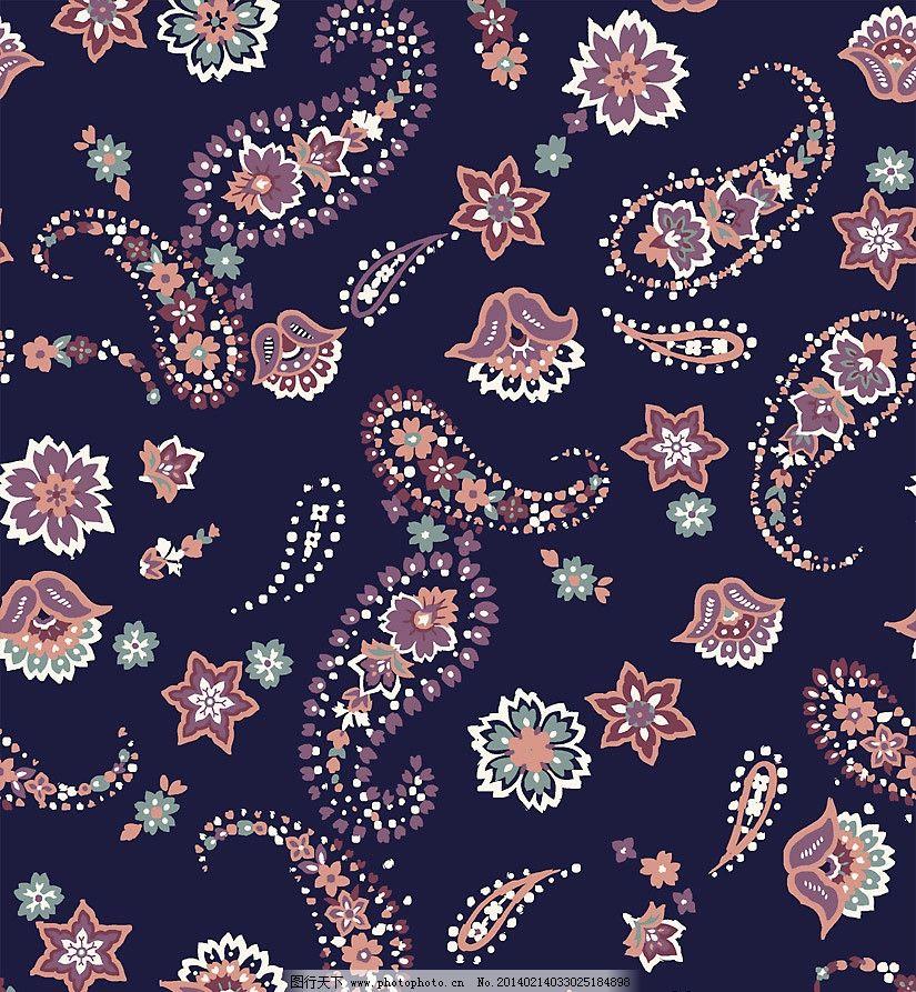 佩兹利涡旋花纹图片
