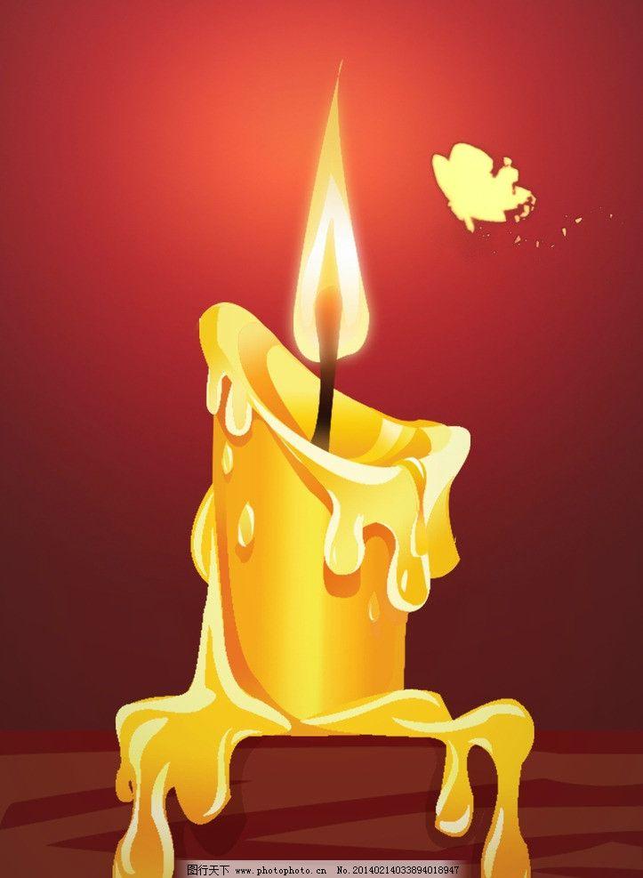 蜡烛彩笔绘画步骤