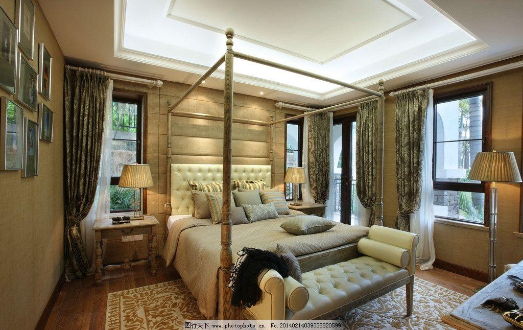 卧室设计 室内设计 欧式风格 奢华 高端      室内摄影 建筑园林 摄影