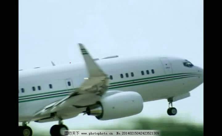 飞机起飞背景视频