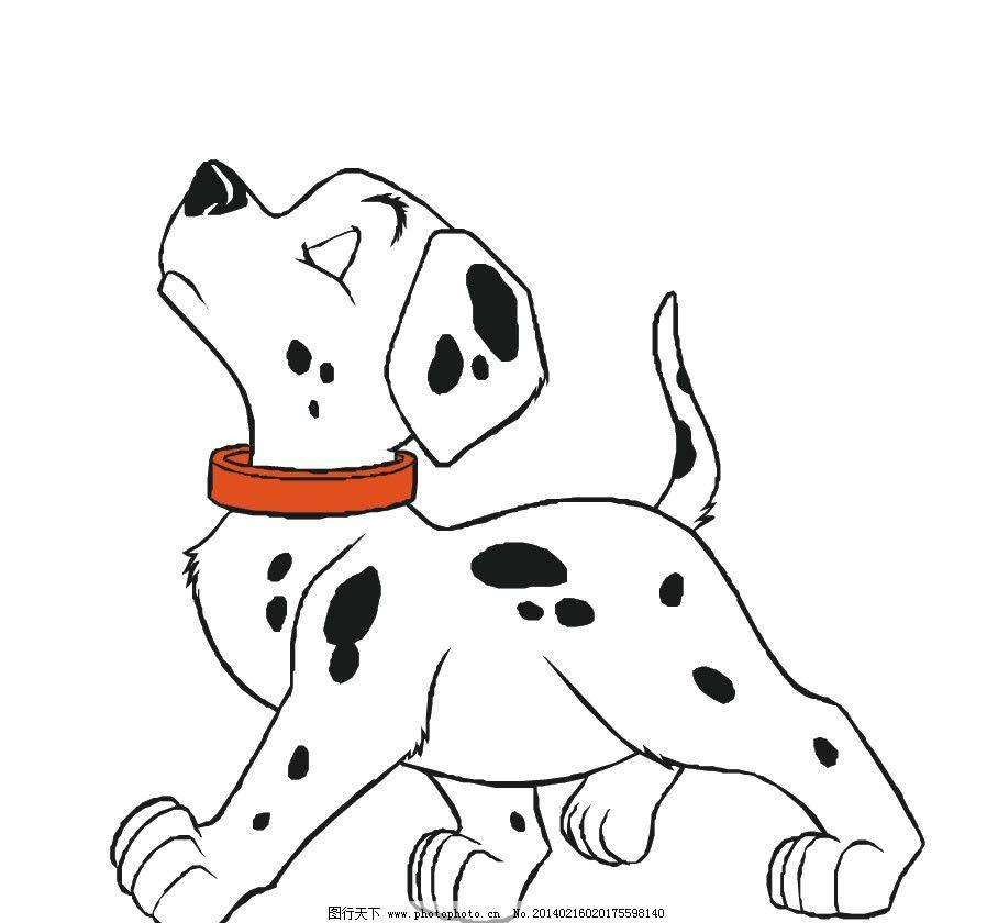 斑点狗 狗狗 花狗 小狗 可爱 卡通 卡通动物 儿童插画 动物卡通