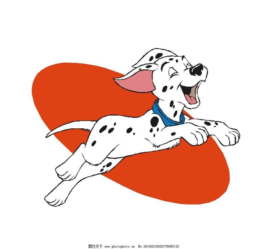 斑点狗 狗 狗狗 花狗 奔跑 小狗 可爱 卡通 卡通动物 儿童插画 动物