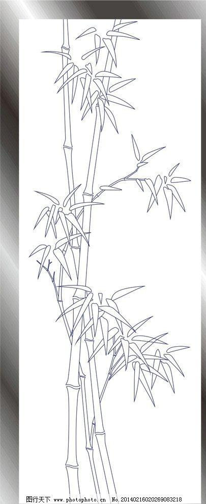 手绘竹子简笔画边框