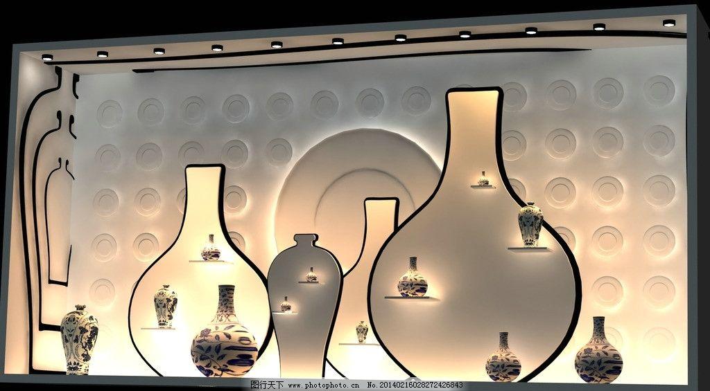 青花瓷橱窗设计图片
