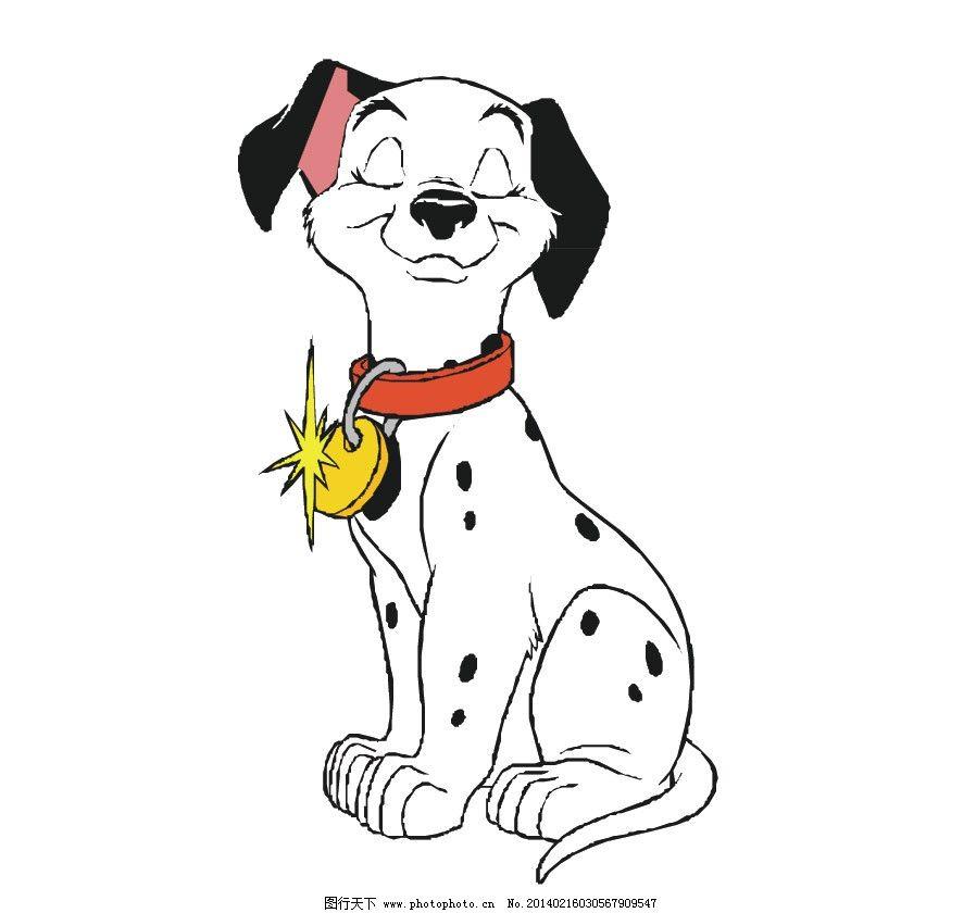 斑点狗 狗 狗狗 花狗 打哈气 小狗 可爱 卡通 卡通动物 儿童插画 动物
