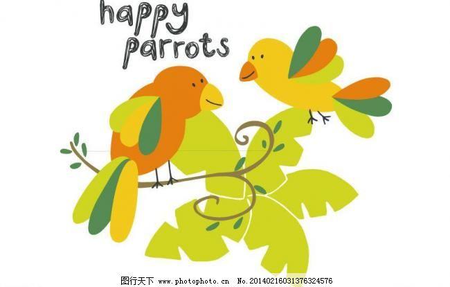 卡通插画 卡通动物 卡通画 其他矢量 时尚插画 矢量素材 小鸟矢量素材