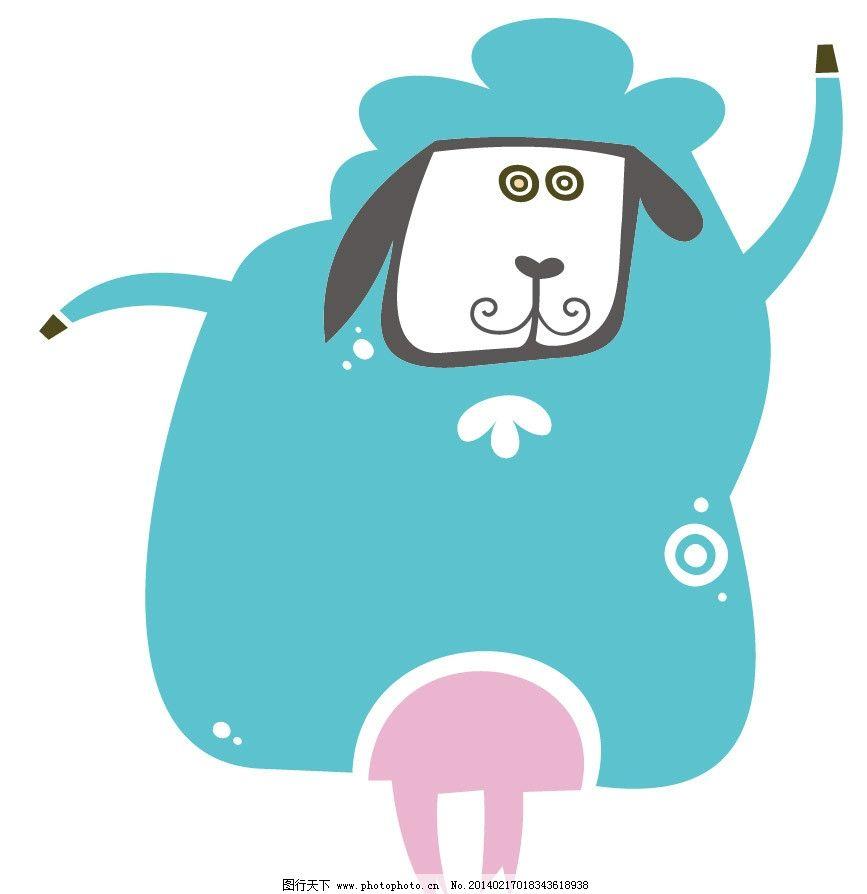 绵羊 小羊 卡通羊 卡通动物 印花 儿童印花 图案 图形设计 图案设计
