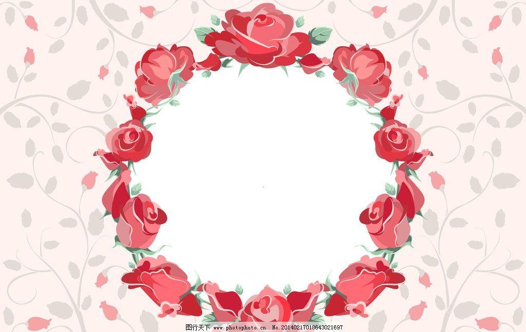 玫瑰花 红色 漫画 卡通 绘画 画画 动漫动画