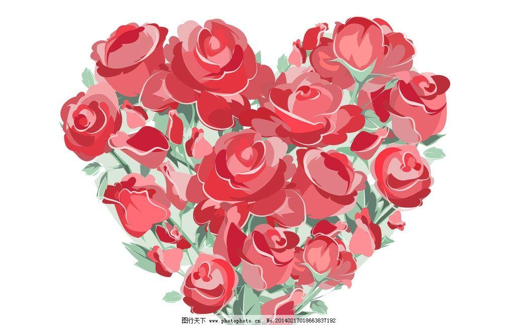 玫瑰花 红色 绘画 画画 动漫动画