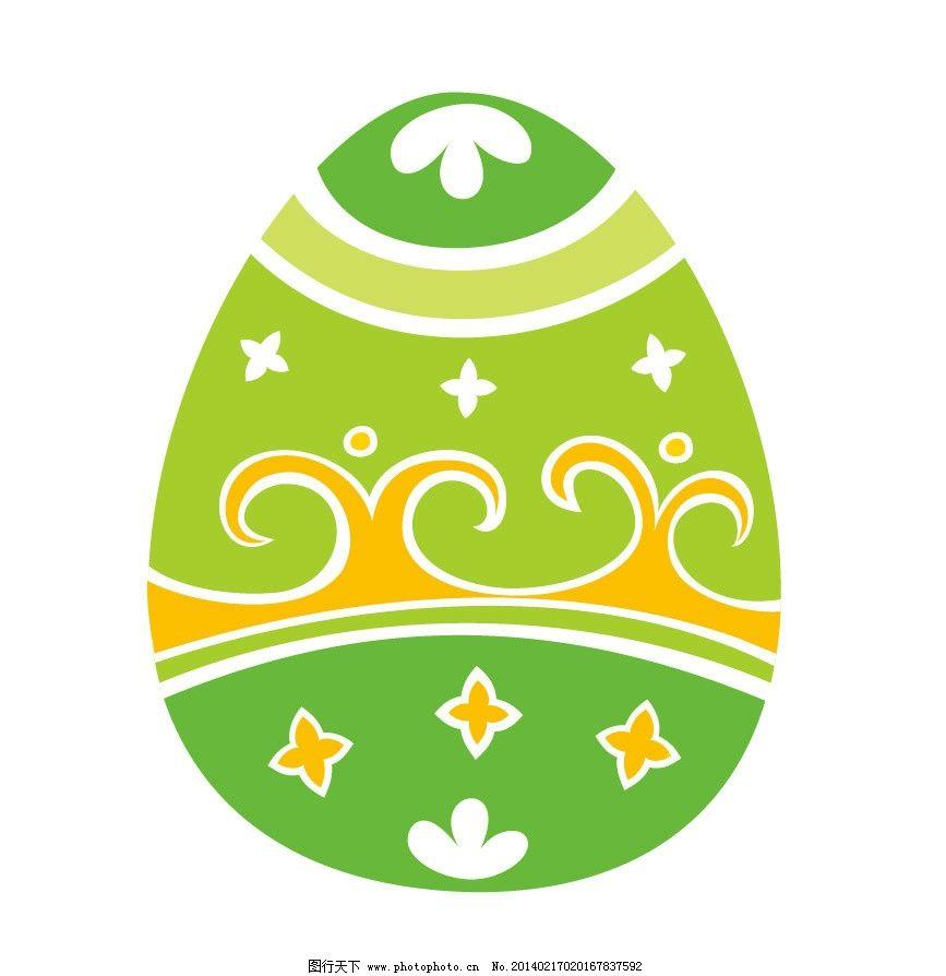 彩蛋 蛋 鸡蛋 复活节 手绘花纹 卡通 卡通动物 印花 儿童印花 图案