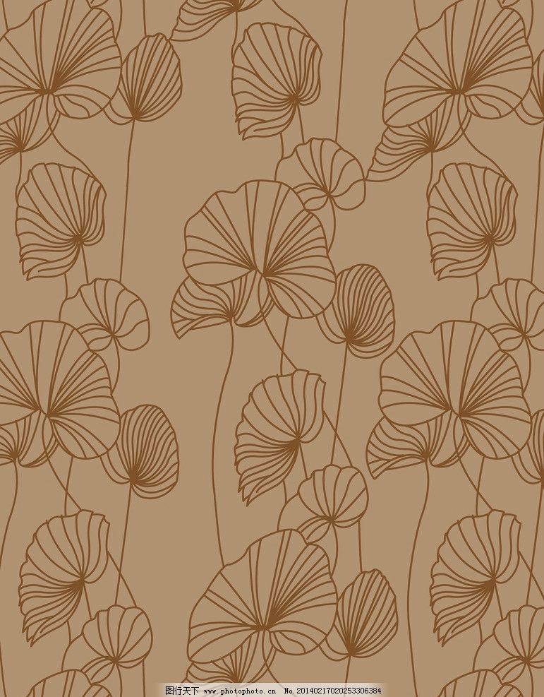 壁画 墙纸 地毯 线条 荷叶 背景底纹 底纹边框 设计 250dpi jpg
