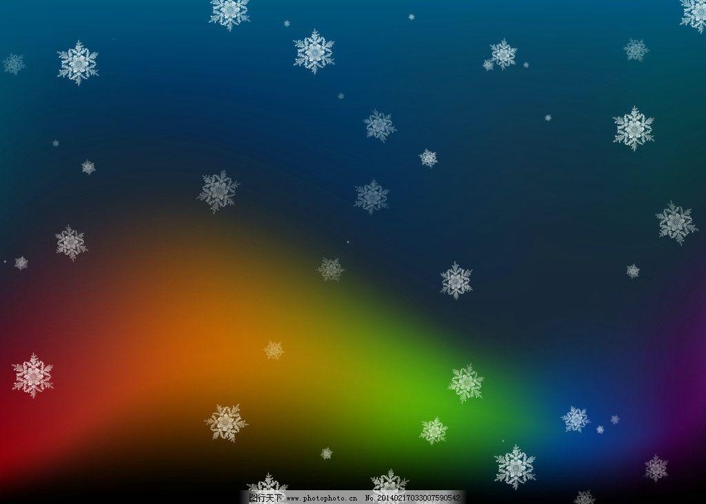 圣诞妆雪花图片手绘