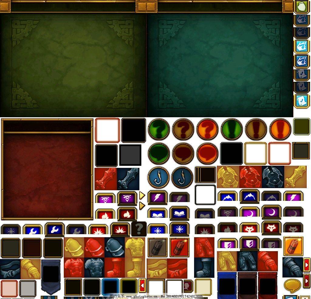 火炬之光图标和对话框背景 火炬之光 游戏 界面 设计 ui psd 游戏界面