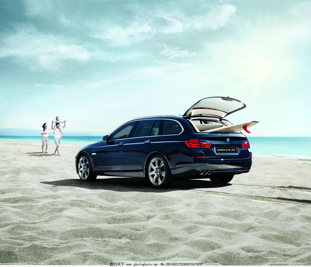 全新bmw5系旅行版 宝马 bmw 5系 广告画面 旅行版轿车 交通工具 现代