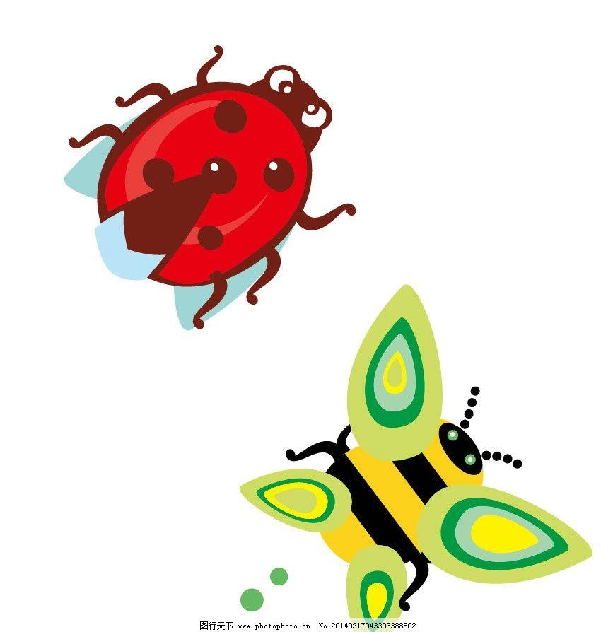 昆虫 大黄蜂 黄蜂 瓢虫 卡通动物 印花 儿童印花 图案 图形设计 图案