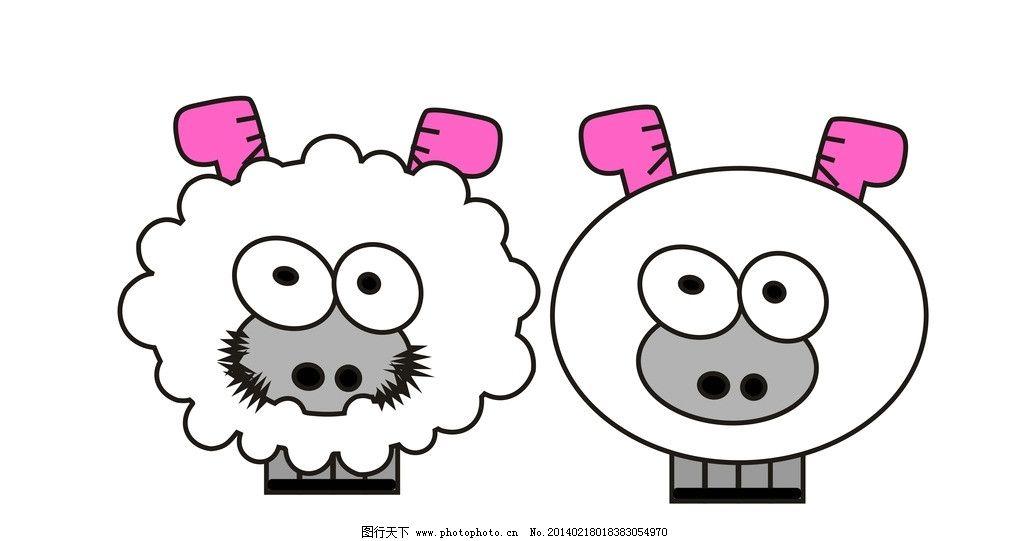 小羊 羊 卡通卡通图 小绵羊 可爱的小羊 卡通设计 广告设计 矢量 cdr
