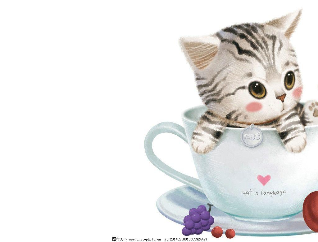 猫咪 手绘 素描 动物