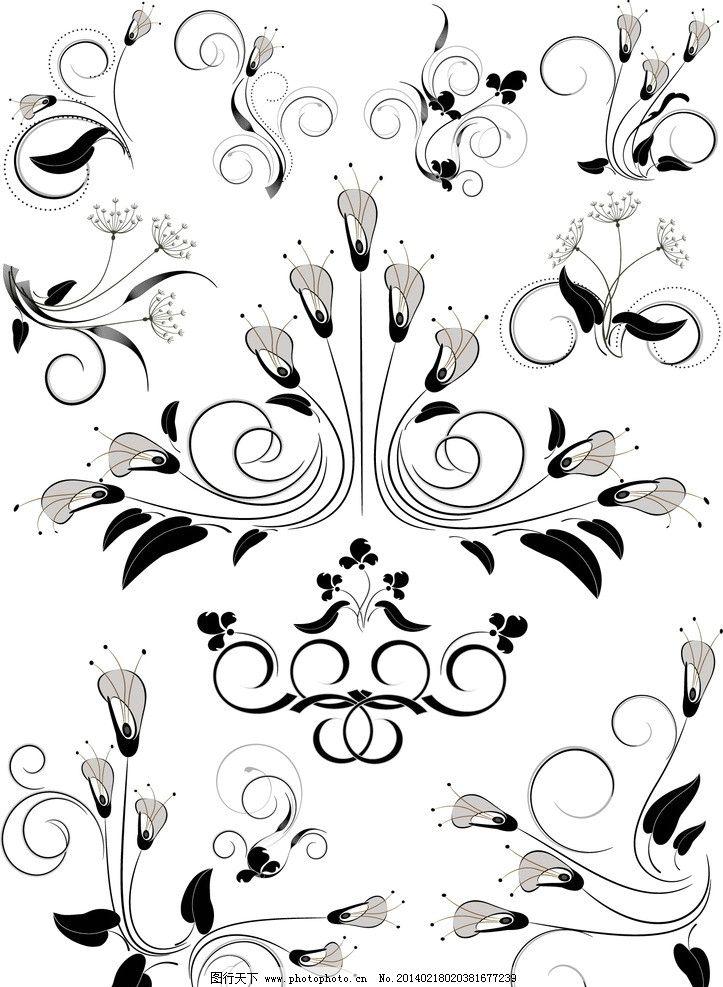 欧式黑白纹理墙纸