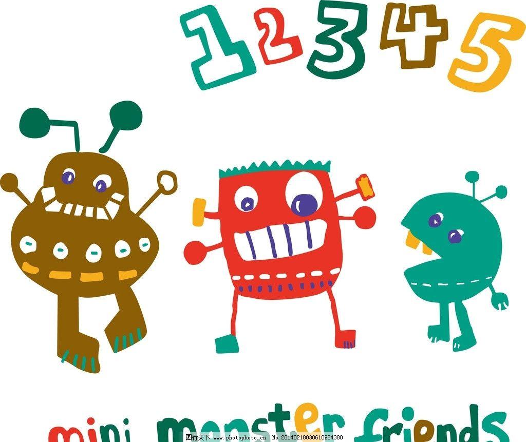 mini friends 大嘴 衣服 图案设计 衣服印花设计 衣服印花 多种动物
