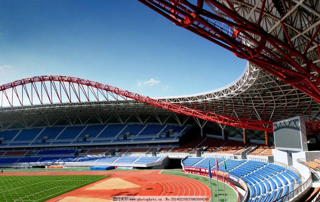 大庆 体育馆 秋天 足球场 体育运动中心 蓝天 国内旅游 旅游摄影 摄影