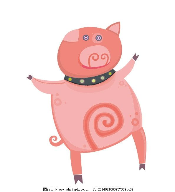 小猪 猪 猪猪 卡通猪 图案 图形设计 创意插画 插画 创意 创意设计