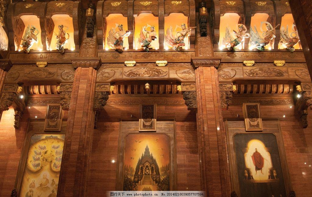 梵宫 佛教艺术 佛教故事 宫殿 飞天 灵山 雕塑 雕塑艺术 室内摄影