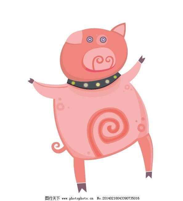 小猪 猪猪 卡通猪 图案 图形设计 创意插画 创意设计 时尚 图案设计