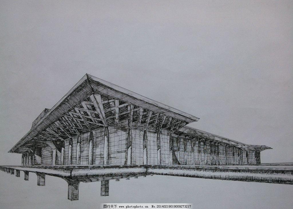 南宁东站 建筑 手绘