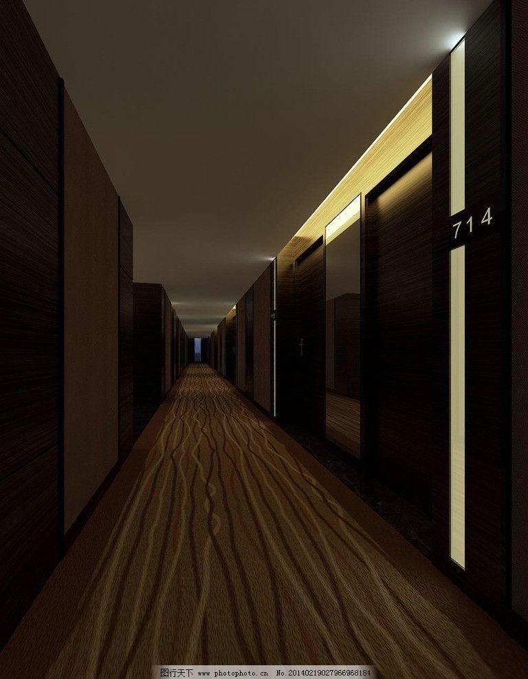 精品酒店空间客房走廊 酒店设计 酒店效果图 佐泽装饰 酒店装修效果图