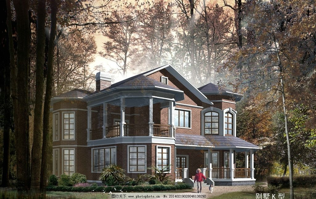 别墅效果图 海报 欧式 复古 建筑设计 环境设计 设计 72dpi jpg