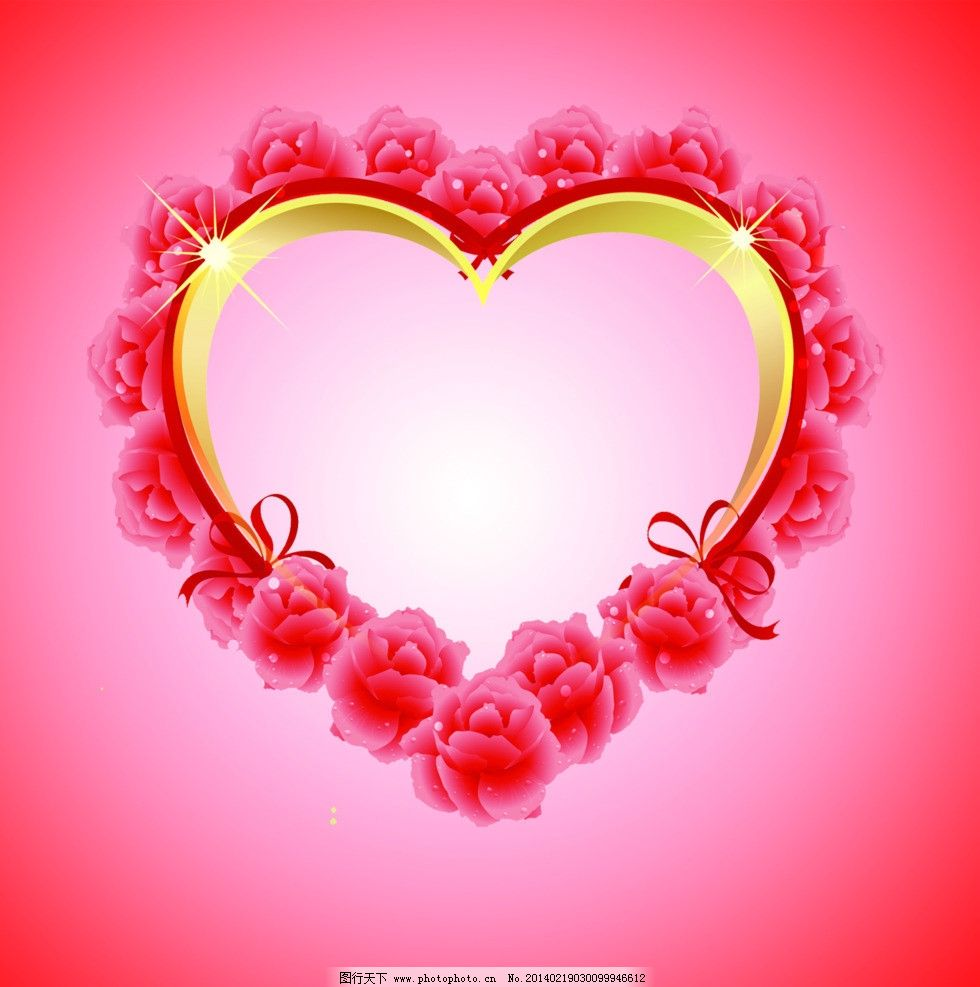 心形图案 花朵图片