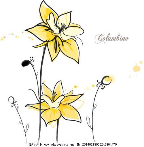 康乃馨手绘矢量花朵