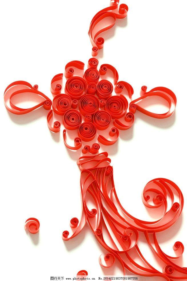 丝带 彩带 中国结 红色 编织 生活素材 摄影