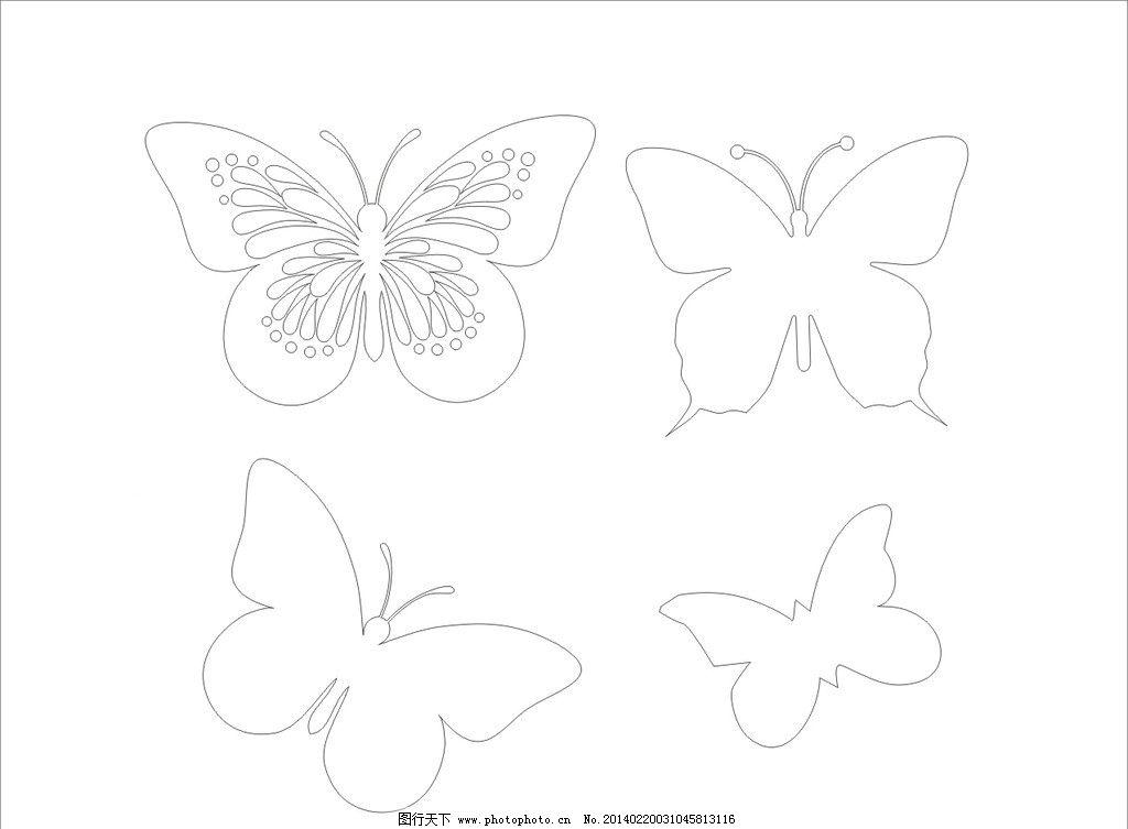 蝴蝶简笔画图片剪纸步骤-蝴蝶简笔画图片