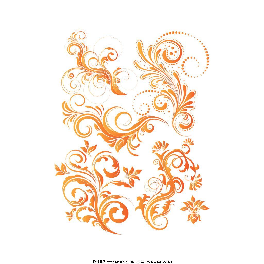 植物花纹 植物花纹免费下载 欧式花纹 植物样式 线描纹样 古典图片