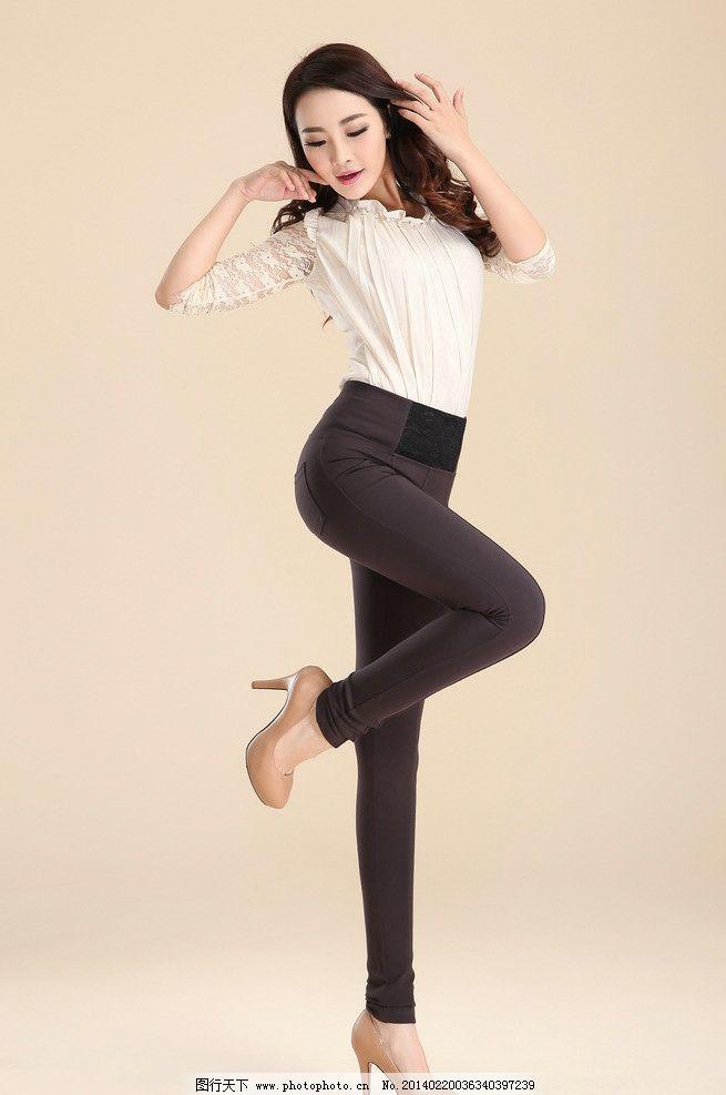 模特 美女 裤子 黑色 衣服 人物摄影 人物图库