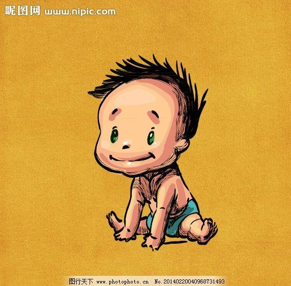 手绘婴儿图片