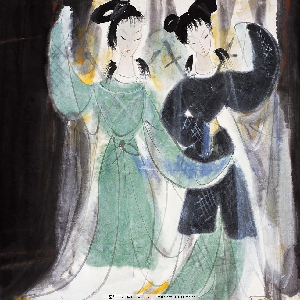 白蛇传 美术 中国画 彩墨画 人物画 女人 仕女 戏曲人物 神话人物