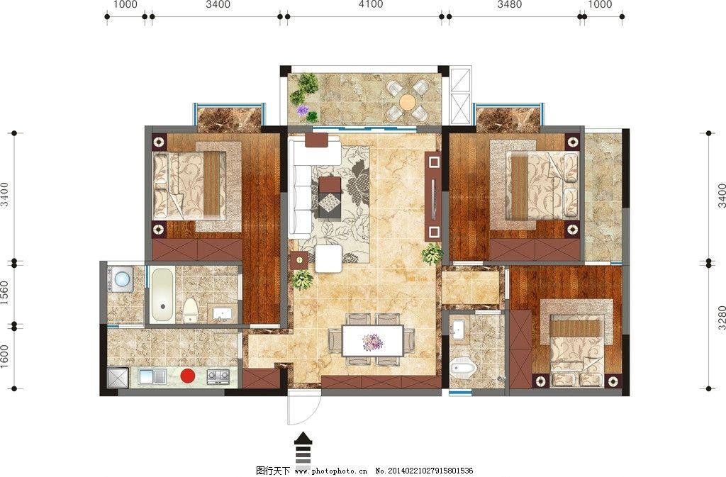 家装平面布置图 地板 地砖 效果图 户型图 室内布置 建筑家居