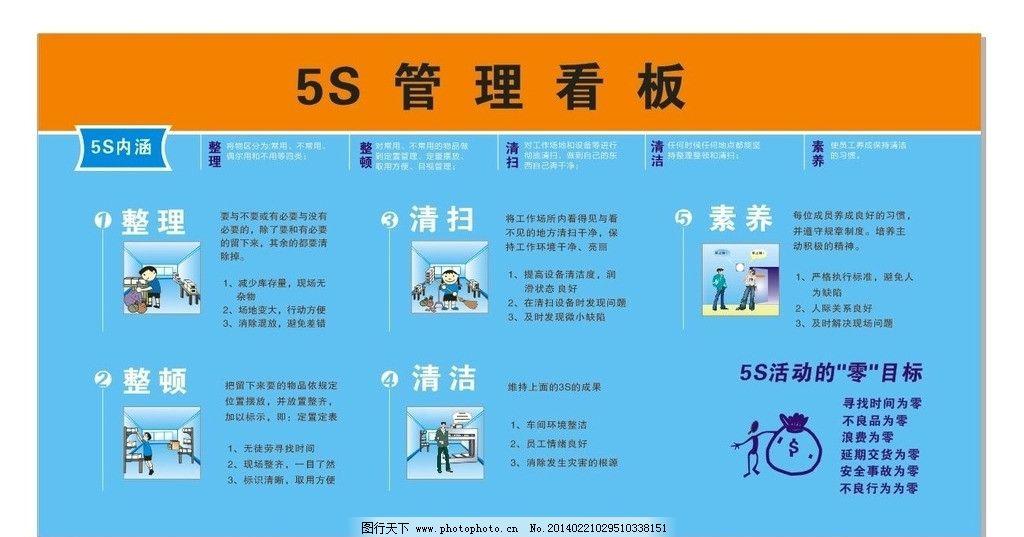 5s管理看板 5s 5s管理看板 5s管理 企业5s 企业5s管理 广告设计 矢