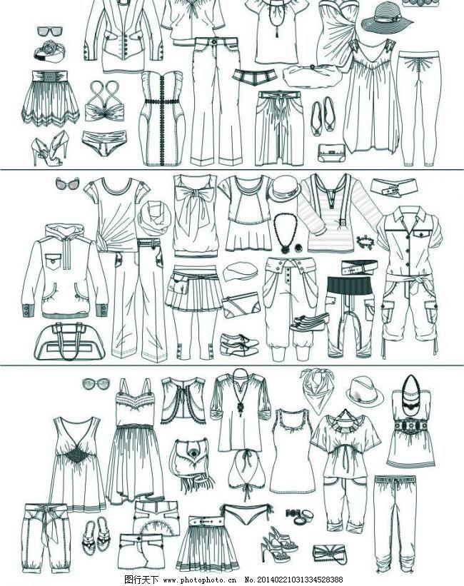 服装模板下载 服装 女装矢量素材 女装模板下载 服装设计 袖子 cdr