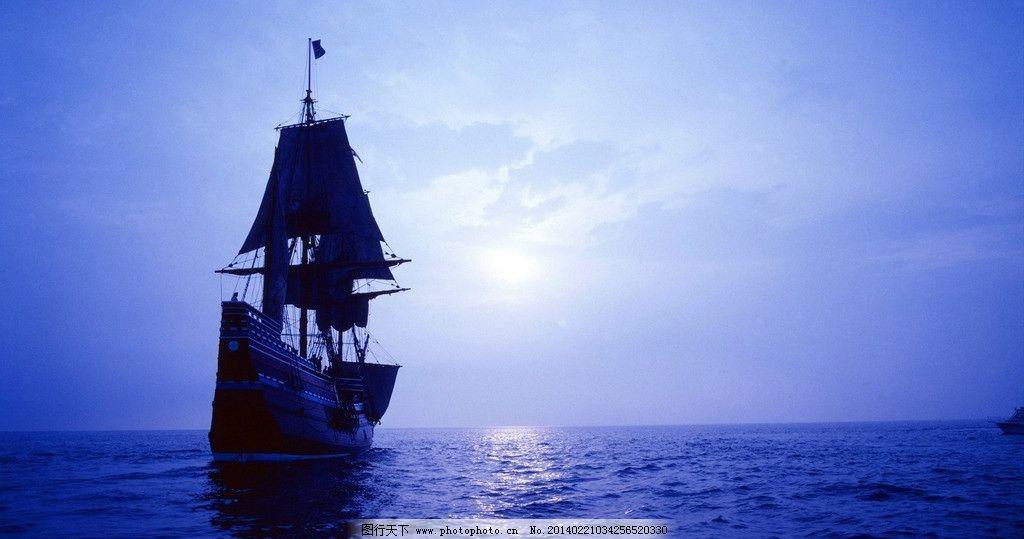 帆船素材下载 帆船模板下载 海面 朝霞 夕阳 日出 航海 水上