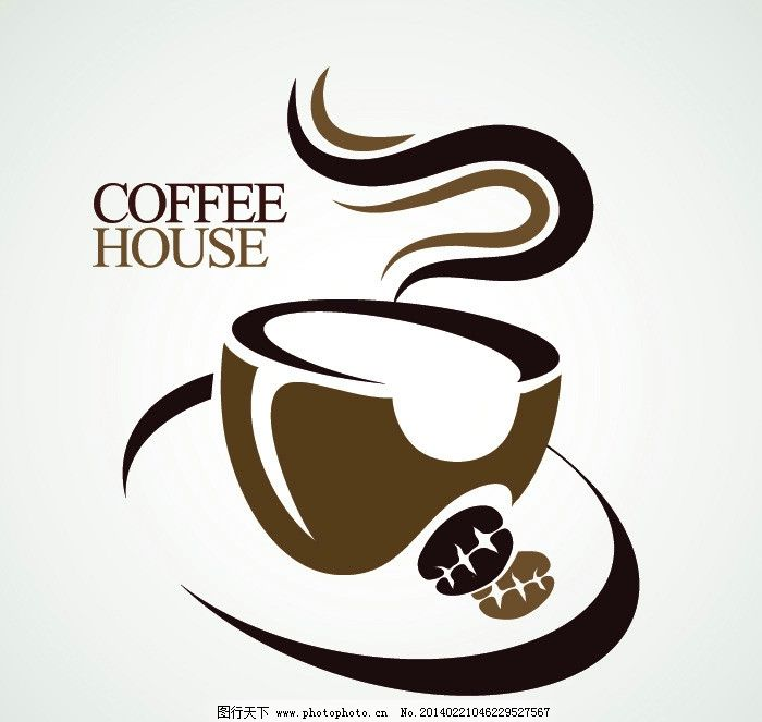 咖啡 咖啡背景 营养 美味 手绘 时尚 矢量 咖啡主题矢量 餐饮美食