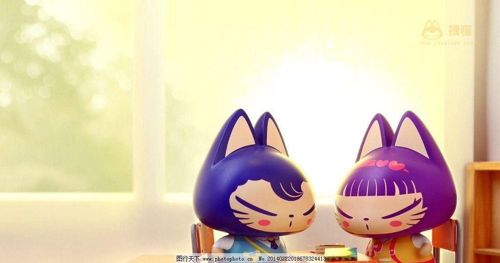 咪咪恋 桌面背景 壁纸 卡通 猫 可爱 动漫动画