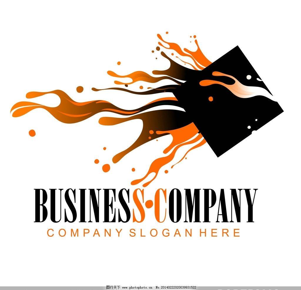 图标 创意设计 墨迹 墨痕 墨点 创意图标 商务 商业标志 公司图标
