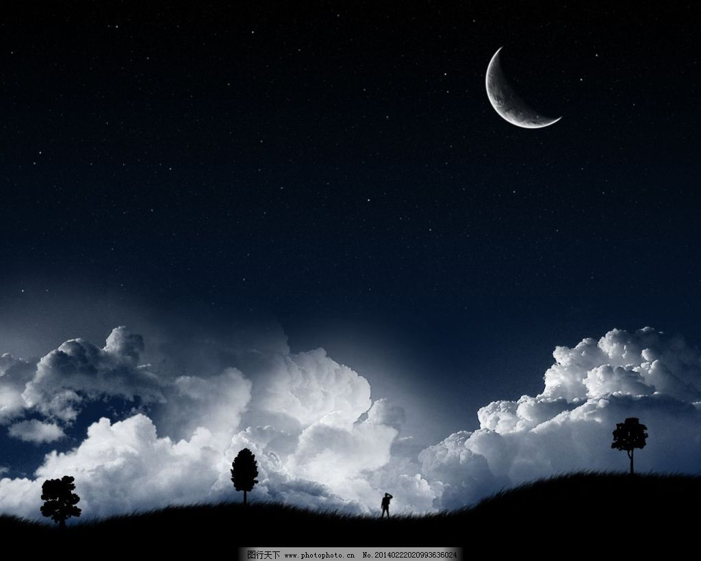 闺蜜头像五人夜空背影