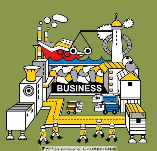工人 建筑 卡通 矢量素材 卡通 工厂 工人 建筑 矢量素材 矢量图 现代
