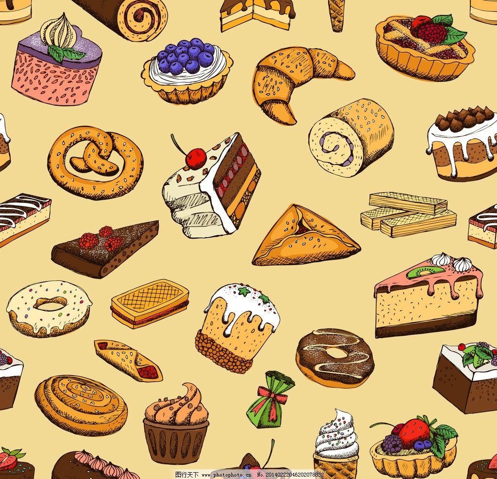 面包 蛋糕 手绘面包 美食 营养 西餐美食 餐饮美食 餐饮美食素材
