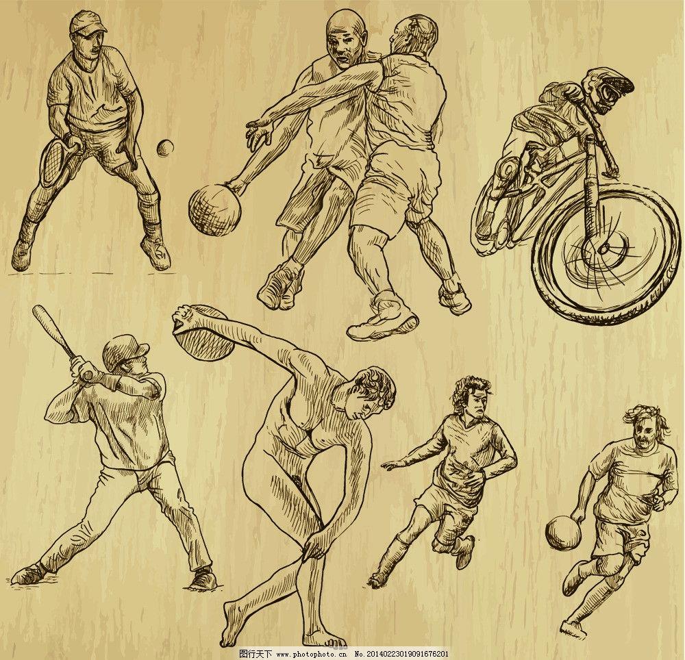 手绘运动员图片