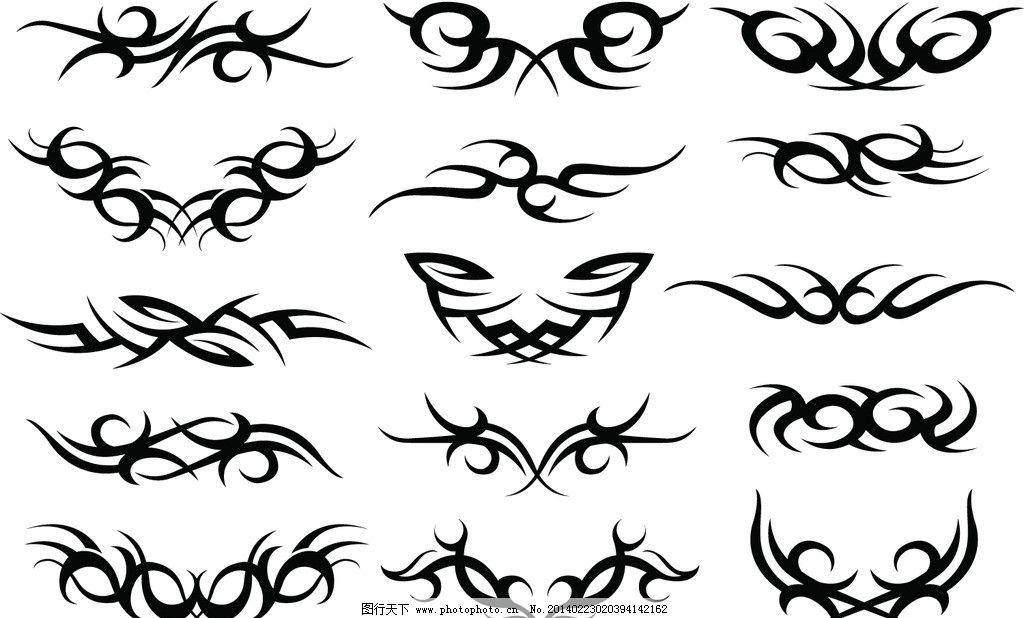 纹身图案矢量 纹身 花纹 图案 矢量 矢量其他 矢量素材 花纹花边 底纹